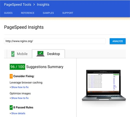 Google PageSpeed Optmization Image